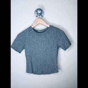 Vintage grey crop top .